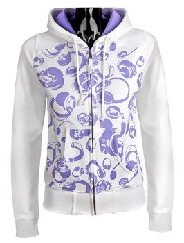 Bluza damska na zamek DC (GABBY ZIP) (WHITE)