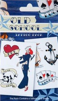 Tatuaż/Naklejka OLD SCHOOL - S.O.S.