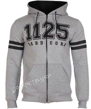 bluza 1125 - HARD CORE grey rozpinana, z kapturem