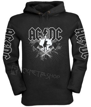bluza AC/DC - HIGH VOLTAGE czarna, z kapturem