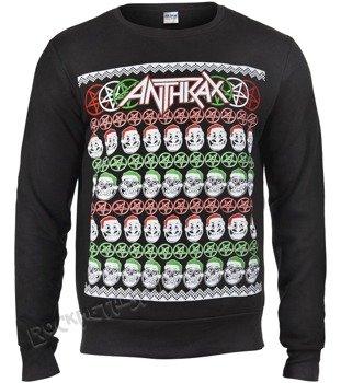 bluza ANTHRAX - SKULLS CHRISTMAS, bez kaptura