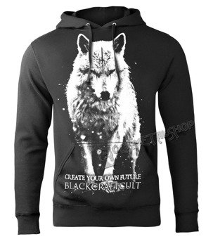 bluza BLACK CRAFT - LONE WOLF, kangurka z kapturem