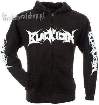 bluza BLACK ICON - DINNER czarna, rozpinana z kapturem (HZICON011)