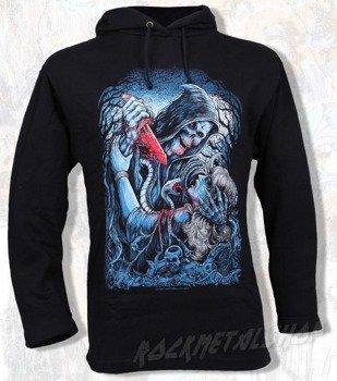bluza BLACK ICON - MURDER czarna z kapturem
