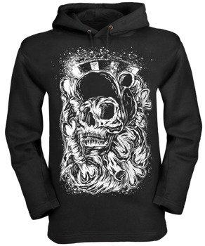 bluza BLACK ICON - SKATE SKULL czarna z kapturem