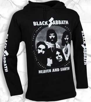 bluza BLACK SABBATH - HEAVEN AND EARTH czarna, z kapturem