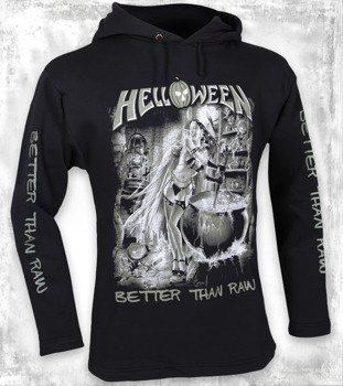 bluza HELLOWEEN - BETTER THAN RAW czarna, z kapturem