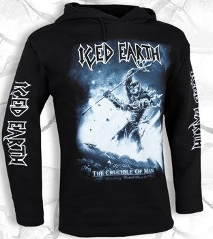 bluza ICED EARTH - THE CRUCIBLE OF MAN czarna, z kapturem