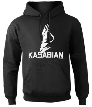 bluza KASABIAN - ULTRA FACE czarna, z kapturem