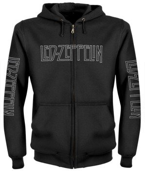 bluza LED ZEPPELIN - USA TOUR 1976 czarna, rozpinana z kapturem