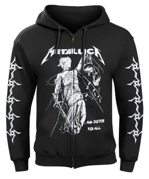bluza METALLICA - ...AND JUSTICE FOR ALL rozpinana, z kapturem