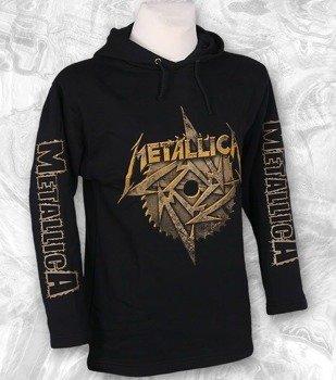 bluza METALLICA - LOGO czarna, z kapturem