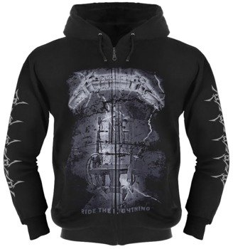 bluza METALLICA - RIDE THE LIGHTNING czarna, rozpinana z kapturem
