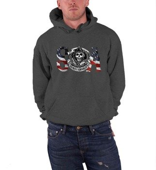 bluza SONS OF ANARCHY - FLAG, kangurka z kapturem