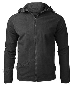 bluza polar FLEECE HOODIE JACKET BLACK