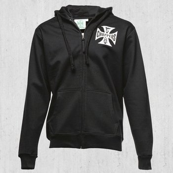 bluza rozpinana WEST COAST CHOPPERS - IRON CROSS black