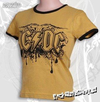 bluzka damska AC/DC - LOGO brudnożółta