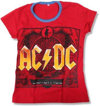 bluzka damska AC/DC - LOGO czerwona