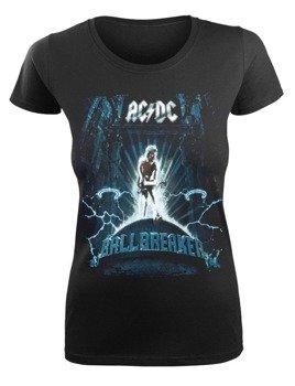 bluzka damska AC/DC - LOGO pomarańczowa