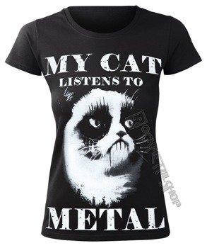 bluzka damska AMENOMEN - MY CAT LISTENS TO METAL (OMEN077DA)
