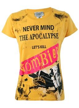 bluzka damska DARKSIDE - ZOMBIE NEVERMIND THE APOCALYPSE żółta