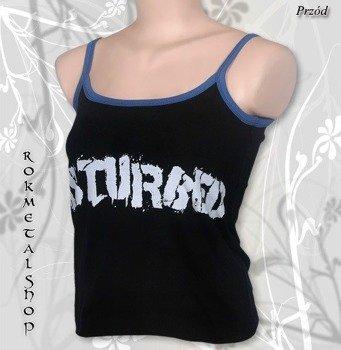 bluzka damska DISTURBED - LOGO na ramiączkach