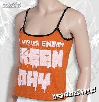 bluzka damska GREEN DAY - KNOW YOUR ENEMY pomarańczowa, na ramiączka