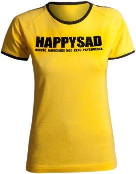 bluzka damska HAPPYSAD - HAPPYSAD żółta