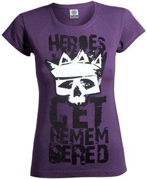 bluzka damska HEROES GET REMEMBERED fioletowa