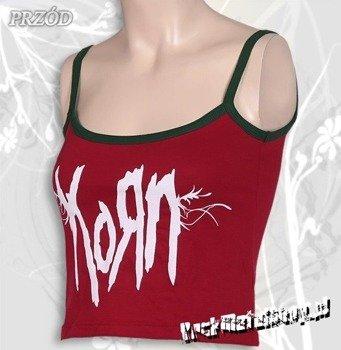 bluzka damska KORN - LOGO czerwona, na ramiączkach