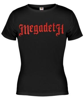bluzka damska MEGADETH - OLD RED LOGO