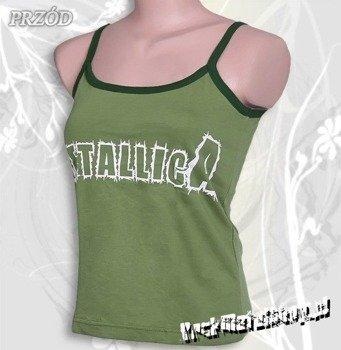 bluzka damska METALLICA - LOGO zielona, na ramiączkach