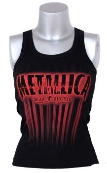 bluzka damska METALLICA - SAN FRANCISCO ,na ramiączka (BLACK)