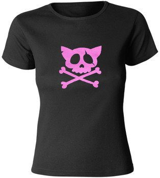 bluzka damska PURPLE KITTY SKULL