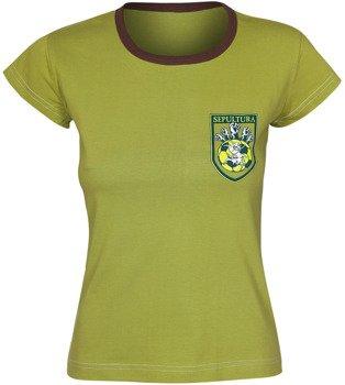 bluzka damska SEPULTURA piłkarska zielona
