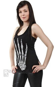 bluzka damska SKELETT HAND BLACK na ramiączkach