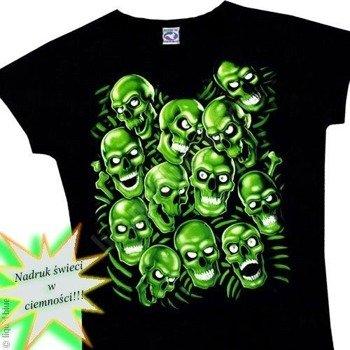 bluzka damska SKULL PILE GREEN fluorescencyjna
