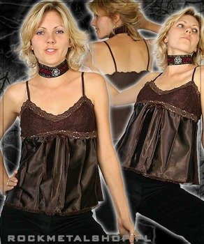 bluzka damska na ramiączkach (brązowa)