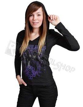 bluzka damska z kapturem BLACK VEIL BRIDES - RISE
