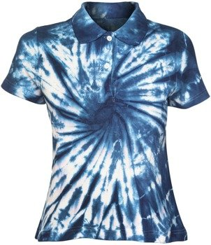 bluzka polo barwiona BLUE MIX