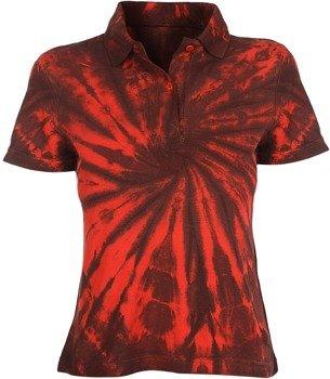 bluzka polo barwiona RED MIX
