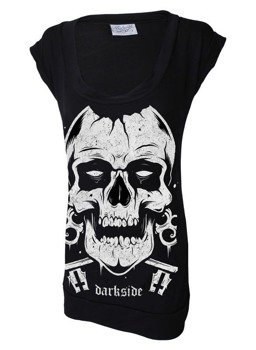 bluzka/top damski damski DARKSIDE - SKULL FITTED