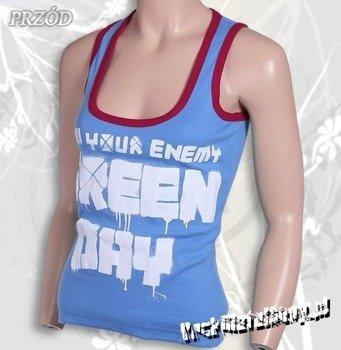 bokserka damska GREEN DAY - KNOW YOUR ENEMY błękitna