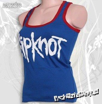 bokserka damska SLIPKNOT - LOGO niebieska