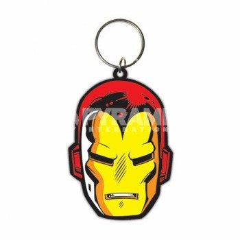 brelok gumowy IRON MAN - FACE