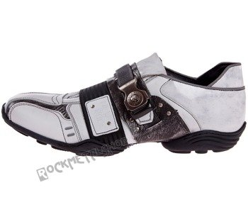 buty NEW ROCK   Abs negro, napa blanco, box plane, charol stuco blanco, carbono negro [8147-S3]