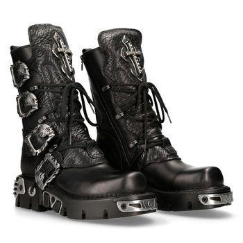 buty NEW ROCK: ITALI NEGRO, BUFALO NEGRO, NEW REACTOR ORIFICIO M.1032-C10