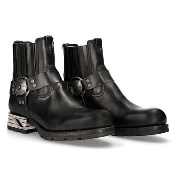 buty NEW ROCK ITALI NEGRO, MOTOROCK NEGRO TACON ACERO M.MR007-S1