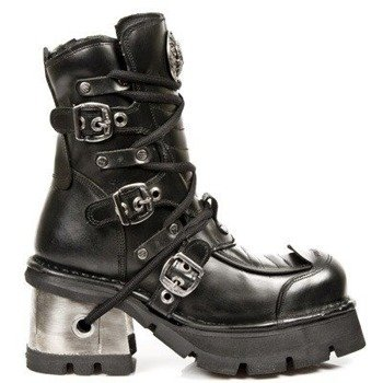 buty NEW ROCK ITALI NEGRO, PLANING NEGRO M8 ACERO ORIF Y CANAL M.990-C1