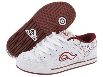 buty damskie ADIO-SNAP (WHITE/DARK RED)(65311)